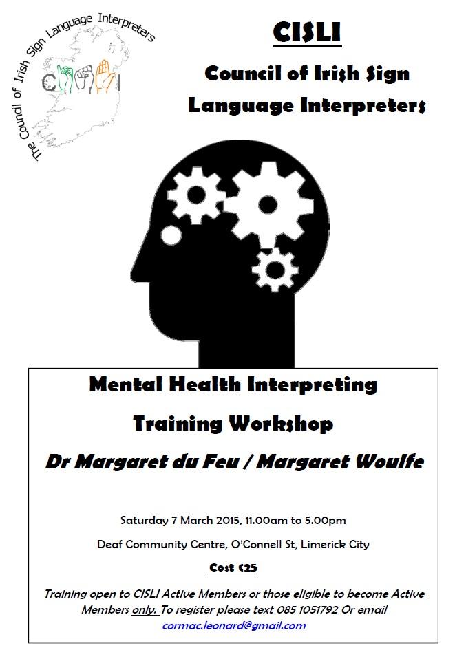 CISLI Mental Health Training Poster