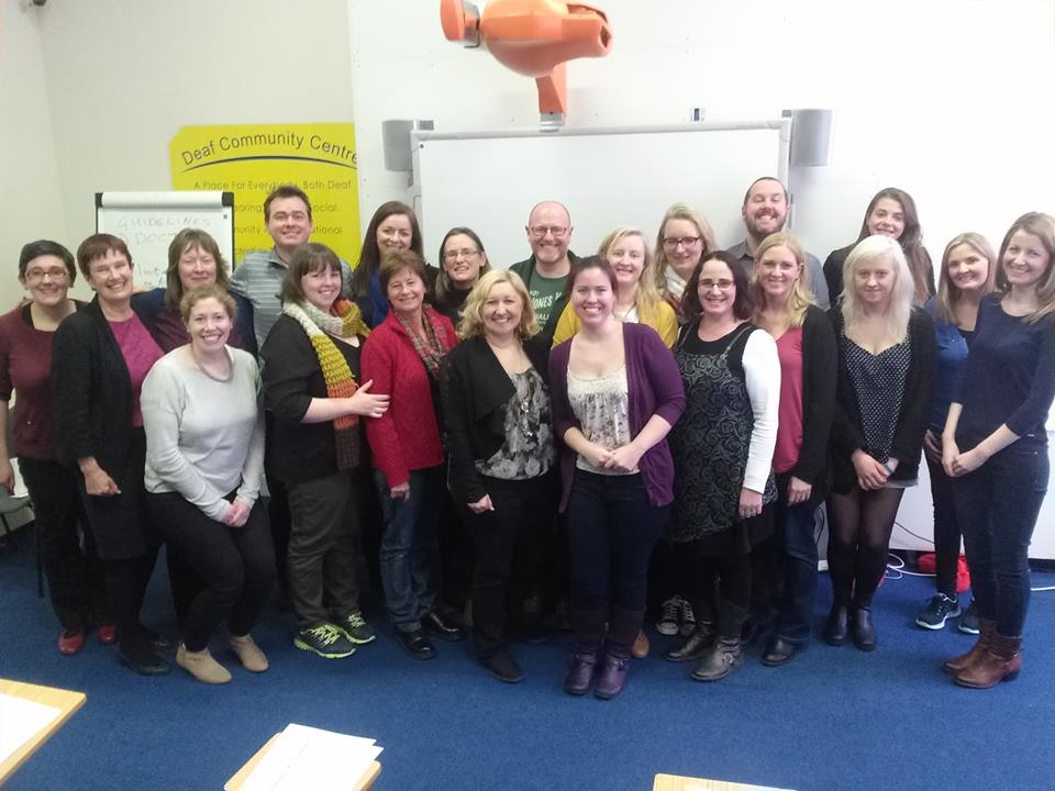 Attendees at the Mental Health Interpreting training in DCC Limerick