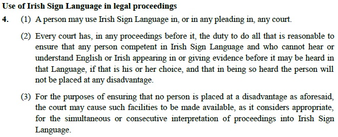 ISL Bill Section 4 on Legal Proceedings