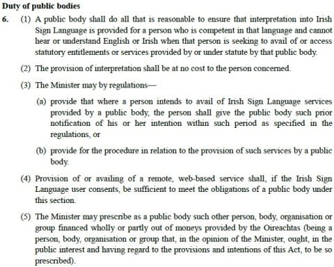ISL Bill 6. Public Bodies